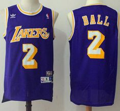 ab58358b Lakers #2 Lonzo Ball Purple Throwback Stitched NBA Jersey Basketball  Scoreboard, Basketball Jersey,