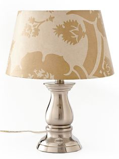 Use wallpaper + spray adhesive to spiff up a plain lampshade ~ tutorial