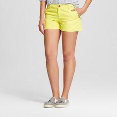 Women's 3 Inseam Chino Short Yellow 2 - Merona