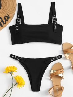63ffb319a7eea Snakeskin Print Bralette Bikini Set in 2019