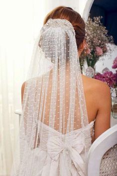 42 Wedding Hairstyles With Veil ❤️ wedding hairstyles with veil updo on dark hair anna campbell veils ❤️ See more: http://www.weddingforward.com/wedding-hairstyles-with-veil/ #weddingforward #wedding #bride #weddinghairstyles #weddinghairstyleswithveil