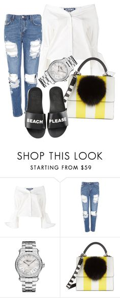 """xx"" by pauloskompanieros on Polyvore featuring Jacquemus, Topshop, Chopard, Les Petits Joueurs and Schutz"