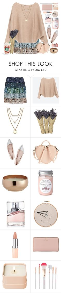 """being single on valentines day"" by doga1 ❤ liked on Polyvore featuring French Connection, Zara, Jules Smith, Mills Floral Company, Giambattista Valli, Marc Jacobs, CB2, HUGO, Rimmel and Kate Spade"