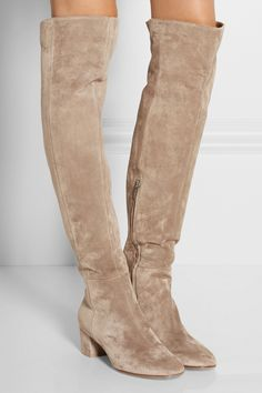 73e98d8f66c2 Gianvito Rossi - Suede over-the-knee boots