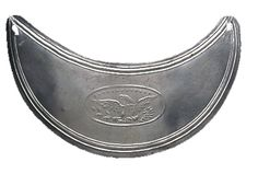 American silver gorget, about 1810. MUS OF FUR TRADE