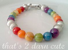 A fun, rainbow bracelet.  Currently my favorite! #bracelet #rainbow