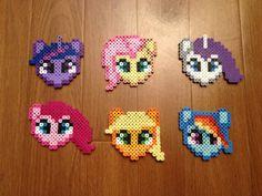 My Little Pony, Perler Beads, Apple Jack, Fluttershy, Rainbow Dash, Twilight, Rarity, Pinkie Pie, magnet, Christmas Ornament