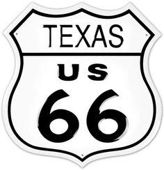 Route 66 Texas Blechschild - bei AllPosters.ch