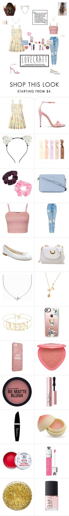 """Rapunzel Style💗"" by kkramer51 ❤ liked on Polyvore featuring Hollister Co., Gucci, Mudd, MICHAEL Michael Kors, WearAll, Repetto, Minnie Grace, Casetify, Too Faced Cosmetics and Max Factor"