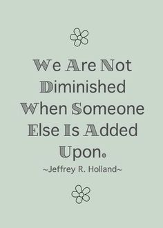 We are not diminished..