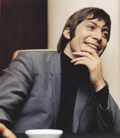 Charlie Watts at a press conference in Copenhagen, 1965.