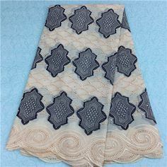African Embroidery Lace Fabric LKLACE1062-1  https://www.lacekingdom.com/      #embroiderylace