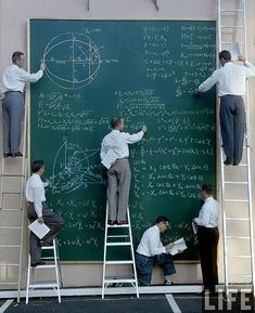 NASA before Powerpoint. Photo by JR Eyerman. 1960's.