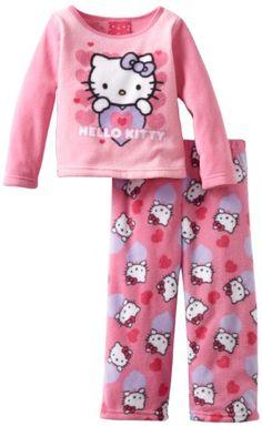 Ame Sleepwear Girls 2-6X Peeking Hello Kitty 2 Piece Pajama Set « Clothing Impulse