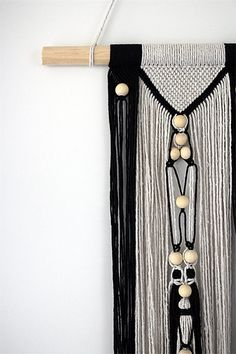 YATALA wall hanging unique boho macrame with beads and knots