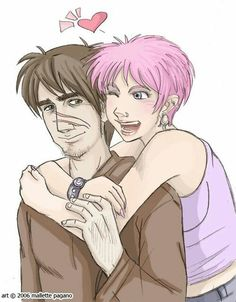 Remus & Tonks So gender fluid Tonks is one of my fave trans headcanons. Just FYI. Harry Potter Ships, Harry Potter Fan Art, Harry Potter Characters, Harry Potter World, Tonks And Lupin, Harry Potter Illustrations, Severus Rogue, Welcome To Hogwarts, Lily Potter