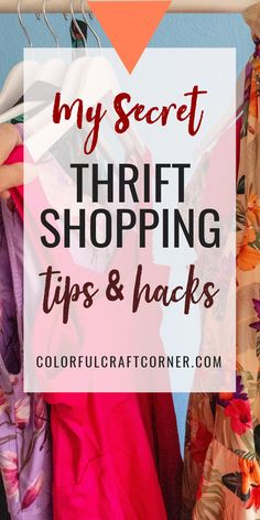 Do you like thrift shopping, but you usually go home empty handed? With these actionable tips you can become more successful while strolling through your favorite second hand store, looking for clothes to upcycle or refashion. #thriftstoreshopping #thrifting #clothesupcycle #refashioning Thrift Store Refashion, Clothes Refashion, Thrift Store Shopping, Shopping Hacks, Dawn Dishwashing Liquid, Second Hand Stores, Refashioning, Color Crafts, Craft Corner