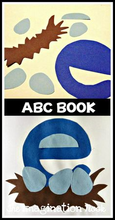 Alphabet Book - ABC Book to make with preschool and kindergarten. E is for egg craft.