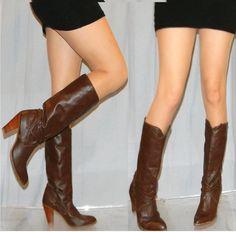 6633b39f5604 SALE -50% vintage DINGO 80s boots sz 7 sexy high heel cowgirl riding boots  DINGO