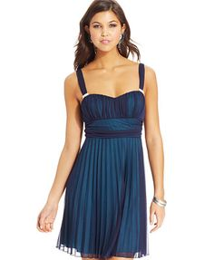 8th grade formal:  Speechless Juniors' Pleated Two-Tone Dress