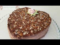 Cheesecake al cioccolato a forma di cuore - YouTube Tiramisu, Pudding, Ethnic Recipes, Desserts, Youtube, Food, Tailgate Desserts, Deserts, Custard Pudding