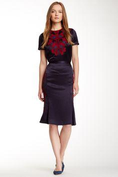Uma Skirt, Tie Blouse | Tory Burch