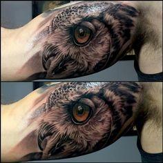 Lechuza Tattoo, Ox Tattoo, Mens Owl Tattoo, Dainty Tattoos, Cool Tattoos For Guys, Leg Sleeves, Tatoos, Tatting, Wings