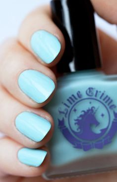 Lime Crime Once in a Blue Mousse Nail Polish $15.99 #limecrime #nails #nailpolish