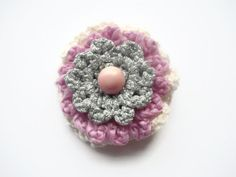 multi layered crocheted summer wedding corsage by maxollieandme, £5.50