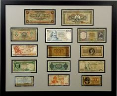 So, you're a world traveler and you collect foreign currency from all of your excursions but have it sitting in a drawer? Why not remember where you have traveled by framing that colorful currency! http://bradleysartandframe.com/