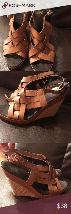 Tory Burch wedges These shoes are have been worn but still have good life left.   Tags: BKE, lucky, Hudson, Paige, buckle, true religion, miss me, joe's, Abercrombie, hippie, rock revival, 7 for all mankind, seven, Levi's, silver, old navy, gap, children's place, Mossimo, American eagle, cremieux, under armour, Vince camuto, Aeropostale, Patagonia, fossil, Michael kors, Northface, Tory Birch, flats Tory Burch Shoes Wedges