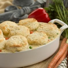 Chicken Pot Pie with Biscuits by lizzydo