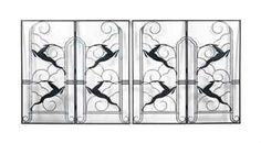 Art Deco - Pair wrought iron and painted 2 fold screens - Christies