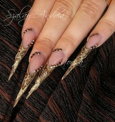 Golden nails by Norka
