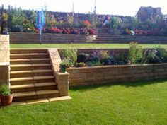 8 Best Tiered garden images | Landscaping, Backyard patio ... on Tiered Yard Landscaping id=22674