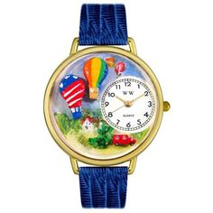 Whimsical Watches Unisex G1610010 Hot Air Balloons Royal Blue Leather Watch - http://www.artistic-watches.com/2016/06/03/whimsical-watches-unisex-g1610010-hot-air-balloons-royal-blue-leather-watch-2/