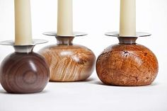Round Candleholders...i'm totally turning this!