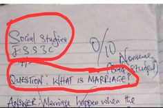 "Funny But TRUE! See A JSS 3 Student's ""Definition Of Marriage"" That Got People Talking"