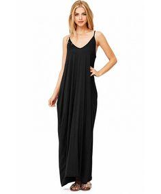 eacc7b6c0678 Women s Trendy Harem Cut Maxi Dress w Pockets - Black - C212FYNGIVT