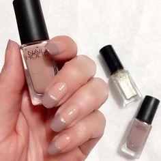 今回はお上品にグレージュ×ベージュ #BE302 #BE304 #GD083 #nailholic_kose #nailholic #ネイルホリック #セルフネイル #セルフネイル部 #nail #acorinail2 Love Nails, Fun Nails, Pretty Nails, Self Nail, Opi Polish, Nagellack Trends, Nail Manicure, Nail Inspo, Beauty Nails
