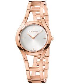 Calvin Klein class Women's Swiss Class Rose Gold-Tone Pvd Stainless Steel Bracelet Watch 32mm K6R23626