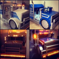 Awesome kids truck beds custom and handmade in Australia. Kids Beds For Boys, Kid Beds, Bunk Beds, Kids Truck Bed, Boy Room, Kids Room, Monster Room, Truck Room, Childrens Beds