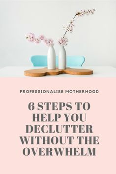 How to declutter. Feeling overwhelmed by the thought of decluttering? It can seem like an impossible task! Beat the overwhelm and declutter with this easy six step strategy and you'll be living in a clutter free home in no time at all