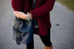 Outfit | Bucket Bags and Turtlenecks