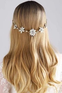This stunning wedding Hair Accessories is a beautiful Rhinestones Flower Silver hair piece hair updo jewelry for brides. A unique, classic and elegant Headband, Add glamour with this Delicate Opal Bridal hair vine.for Beach, spring and outdoor wedding Wedding Braids, Wedding Headband, Best Wedding Hairstyles, Bride Hairstyles, Wedding Hair Pieces, Wedding Dress Styles, Barn Wedding Photos, Spring Wedding Invitations, Floral Wedding Cakes