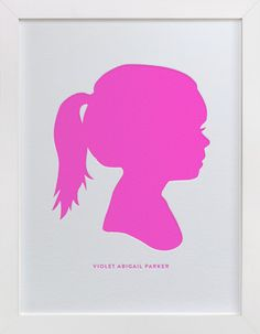 Custom Silhouette Letterpress Art by Minted at minted.com