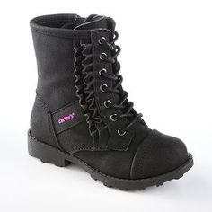 Carter's toddler girl fashion boots black - Combat boots for Carmen