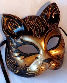 Here Kitty... Gorgeous Wearable Venetian Mask from Mask Shop
