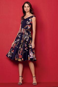 Vestido Evasê Midi Floral Lez a Lez