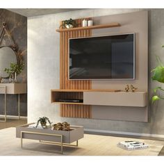 Living Room Wall Units, Living Room Partition, Living Room Tv Unit Designs, Home Living Room, Living Room Decor, Tv Unit Furniture Design, Tv Unit Interior Design, Interior Design Living Room, Tv Cabinet Wall Design